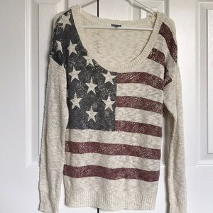 Charlotte Russe Flag Sweater